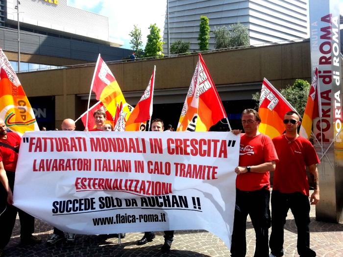 Auchan Porta Di Roma Nuova Protesta Flaica Cub Contro