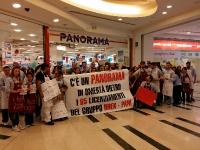 Sciopero Flaica a Roma Est con i lavoratori gruppo Pam-Panorama