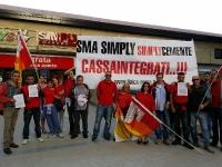 SMA SIMPLY,sit-in flaica a Piazzale della Radio: lavoratori cassintegrati in